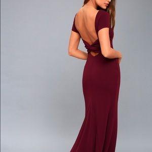 """Lulu's """"Endless Love"""" backless full length dress"""